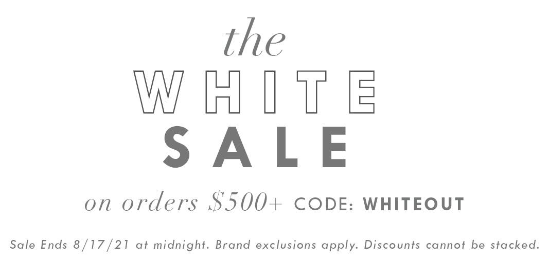 Shop the White Sale