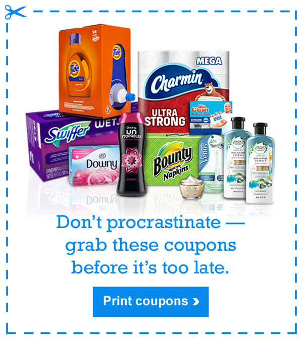 Don't procrastinate—grab these coupons before it's too late. Print coupons >