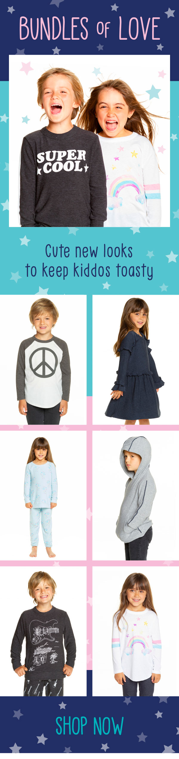 Cute new looks to keep kiddos toasty from Chaser
