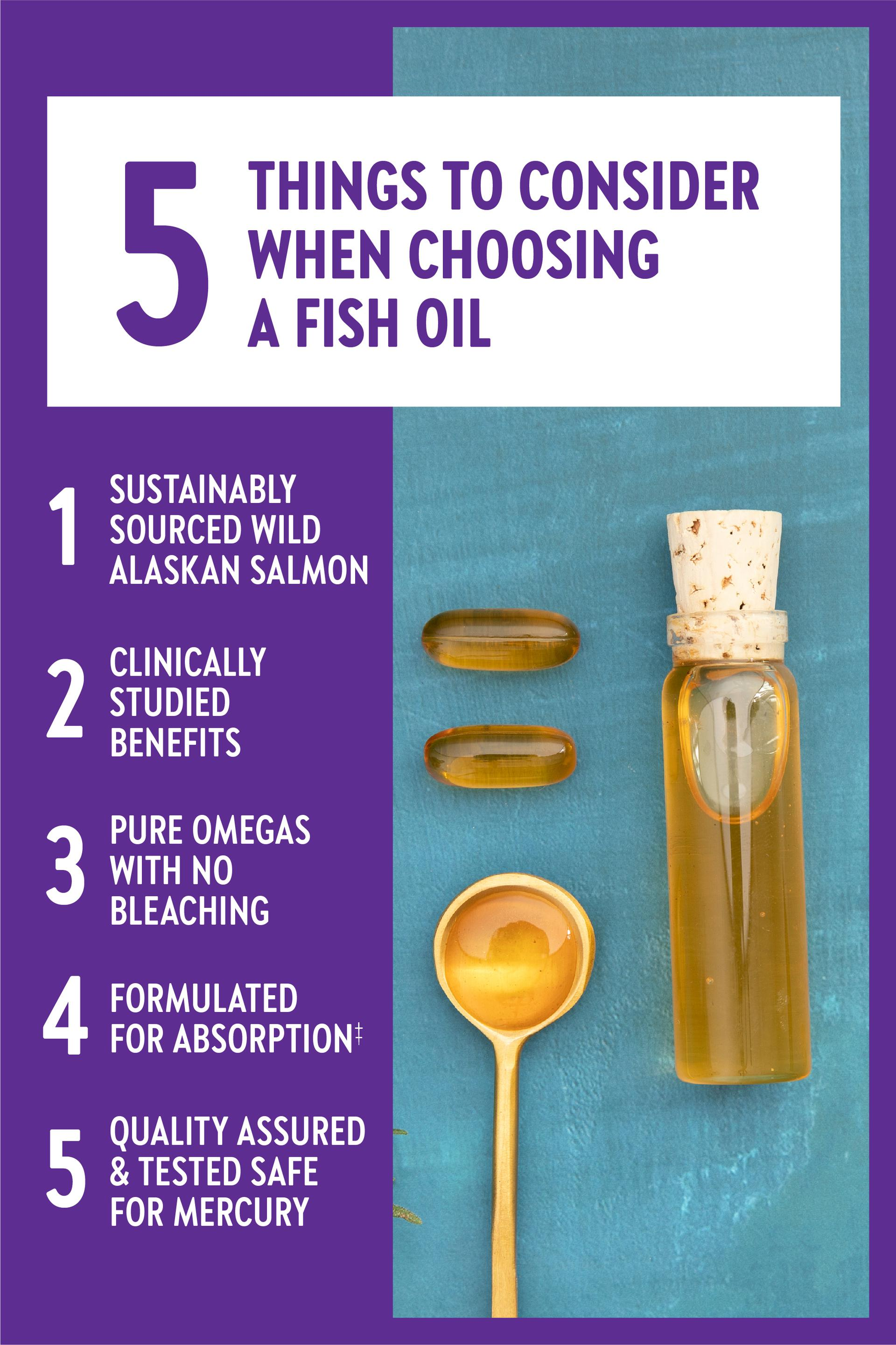 5 things to consider when choose a fish oil