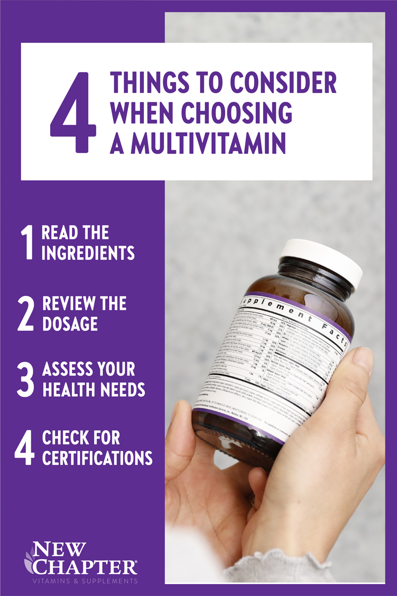 4 Things to Consider When Choosing a Multivitamin