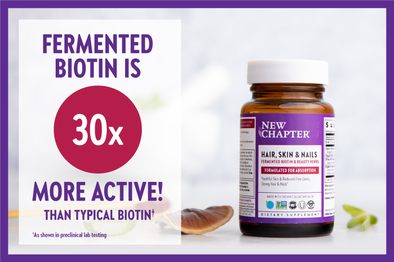 Fermented Biotin is 30x More Active!
